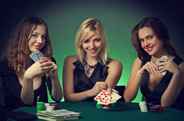 Women playing poker
